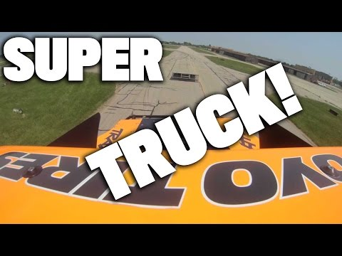 Robby Gordon Stadium Supertruck at Motown Mile - Onboard Video with Huge Jumps