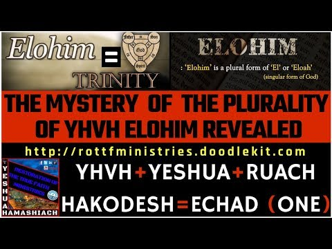 THE MYSTERY OF THE PLURALITY (TRI-UNITY) OF ELOHIM (GOD) REVEALED