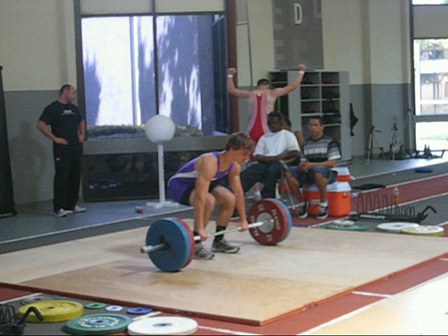 Whittier Lacrosse Player Clean & Jerk