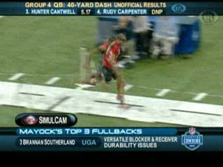 40 Yard Dash at the NFL combine