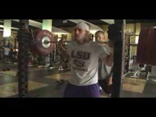 LSU Tigers Coach Tom Moffitt Back Squat Football Workout