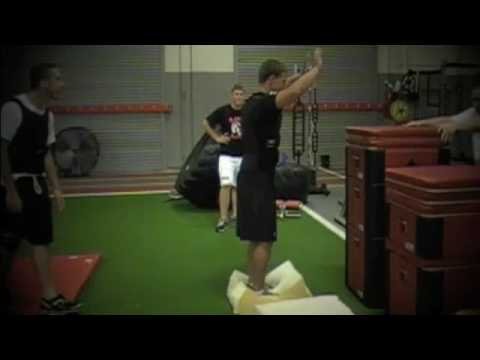 "53"" Weighted Box jump out of foam."