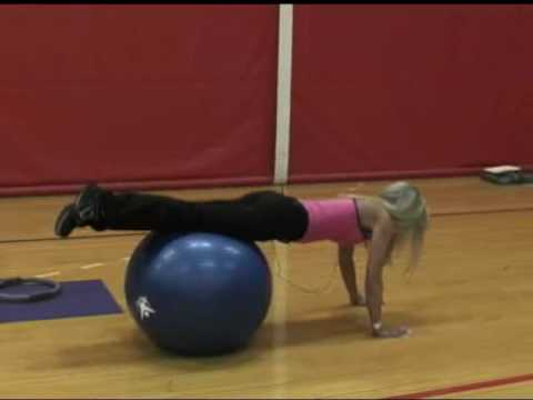 Stability Ball Hand Walks with Reverse Hypers