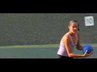 Training with Ana Ivanovic