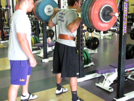 LSU Strength Staff Eric Back Squat