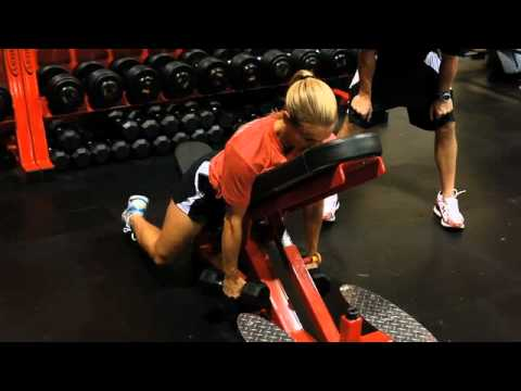 Heather Mitts Dumbbell Row with Hold