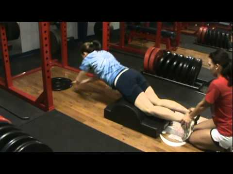 Glute/Ham Fire-out on Partner Glute/Ham/Core Trainer