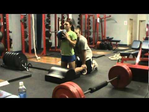 Glute / Ham Bow with Medicine Ball Toss