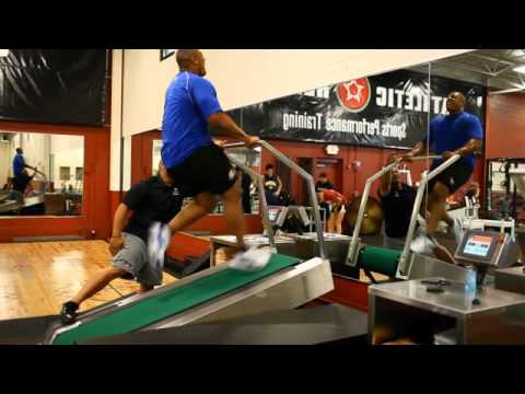 LaMarr Woodley Super Treadmill Training