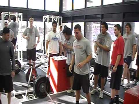 Southern Utah Football Power Cleans