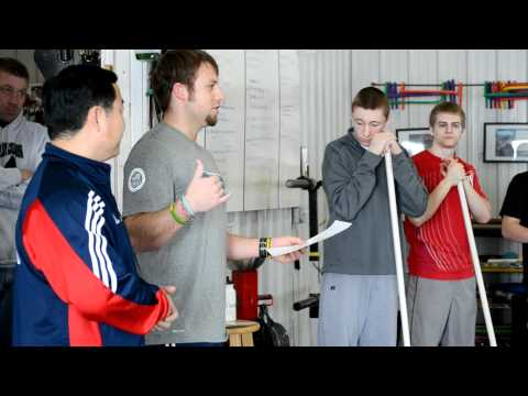 Jianping Ma Olympic weightlifting workshop at Got Strength Gym of Iowa City (introduction and bio)