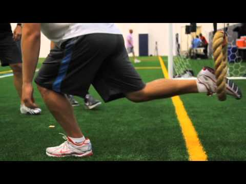 Matthew Stafford Banded Loop Single-Leg Squat Thrust