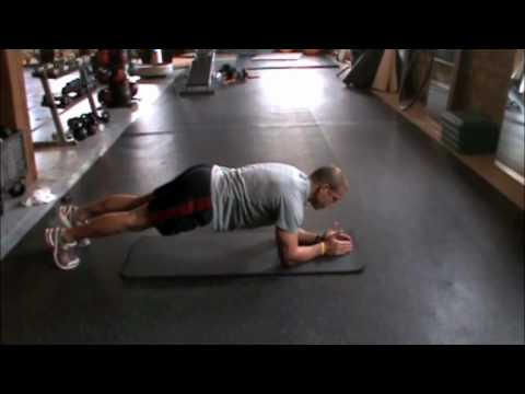 Front Plank (Alternating Arm & Leg Raises)