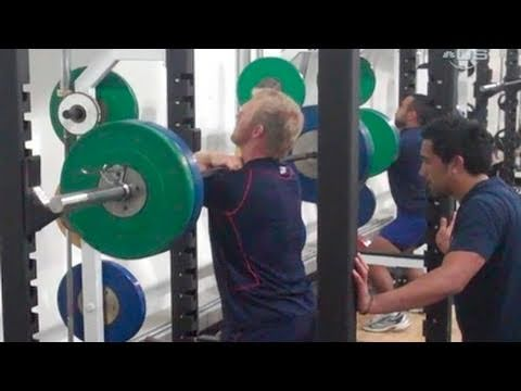 American Rugby Team Workout