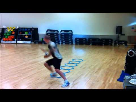 Reactive, hopping & speed drills with a turn and shot