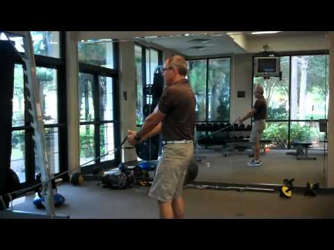 Lunge Patterns with Bands - PGA Coach Chris Noss