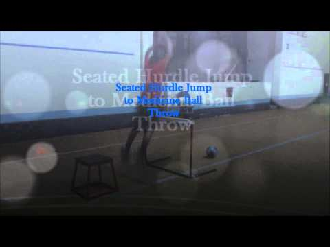 Seated Hurdle Jumps to Medicine Ball Throw