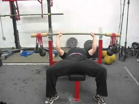 Bamboo Bar Bench Press at Westside Barbell