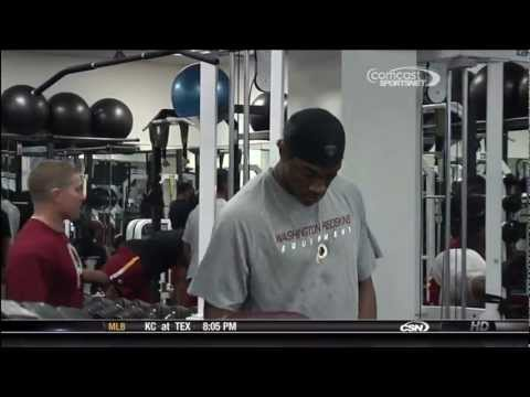 RG3 & Vets working out in Skins weight room- HD
