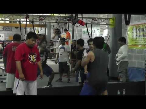 Manny Pacquiao - Strength Training for Bradley Fight