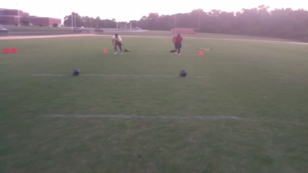 DI Football Recruit, DII Soccer Player Resisted Medicine Ball Run