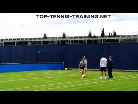 Andy Murray Footwork Training On Grass 2012