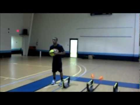 Lateral Hurdle Jumps to 4 Cone Touch Jump Shot