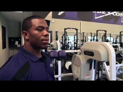Ray Rice behind scenes tour of Ravens weight room