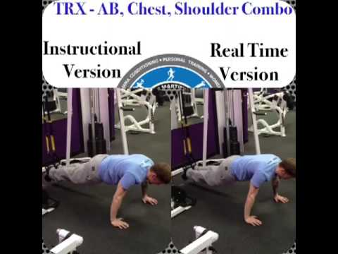 TRX Super Core and Chest exercise