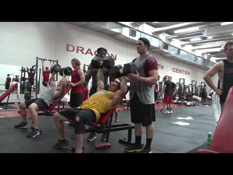 Rock Gullickson Visits MSUM's Strength Center