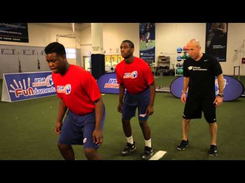 USA Football | Strength and Conditioning | Line Jumps