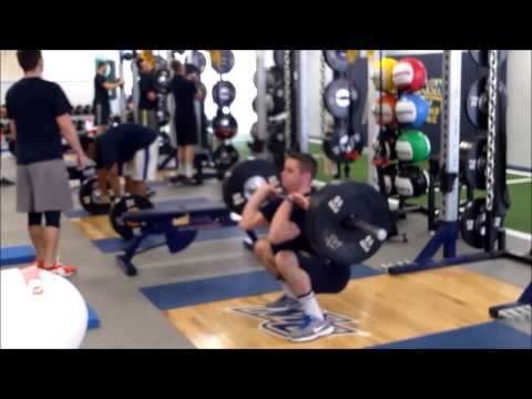 Merrimack College Football Winter 2014 Strength and Conditioning