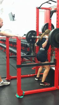Maryland Softball Player 2x BW Squat