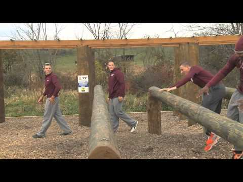 Virginia Tech Baseball-Army ROTC Obstacle Workout