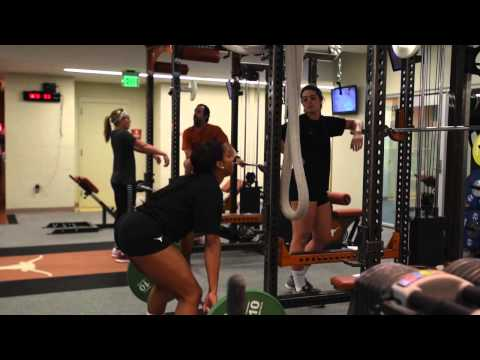 Texas Women's Volleyball Weight Training with Donnie Maib
