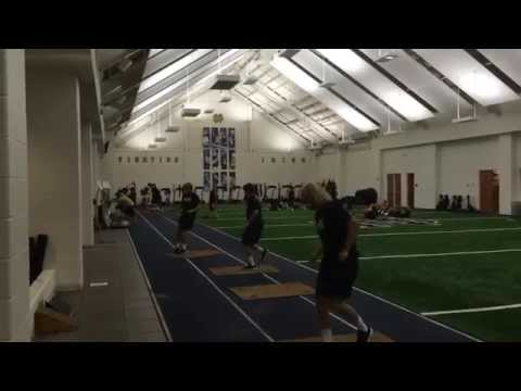 "ND Lacrosse Strength: ""Mean 15"" Fall 2014 Edition"