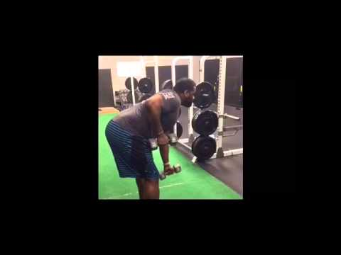 Wrestling Strong: DB Unilateral  Row w/ ISO Hold to improve shots