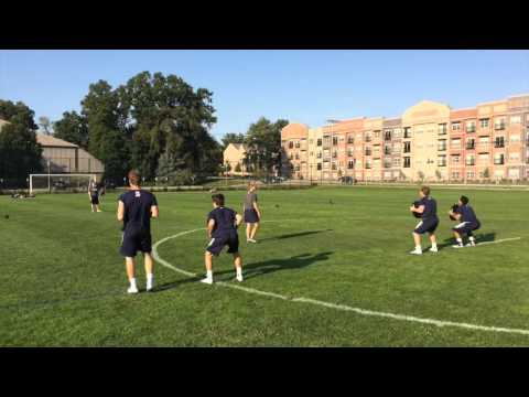 Notre Dame Strength: Body Weight & Core Relay Race