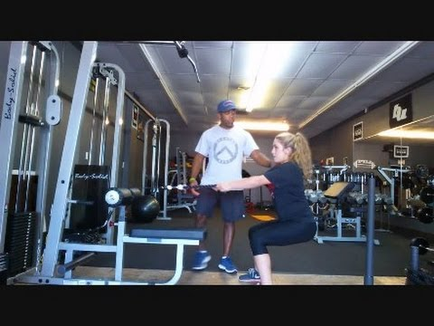Squat Row with rope