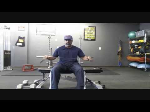 Dumbbell chest press with resistance bands
