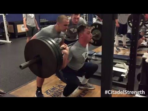 Citadel Baseball Preseason Lift 2016-02-02