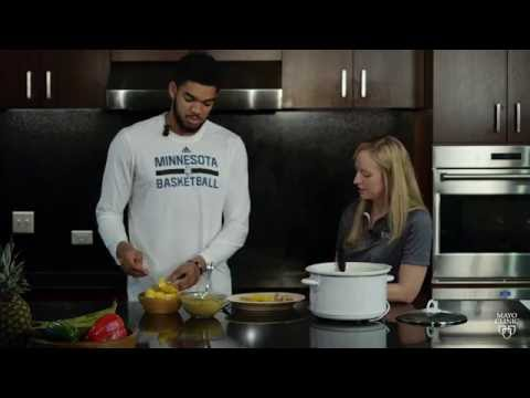 Mayo Clinic Sports Medicine, EXOS, and Karl Anthony Towns Cooking Lesson