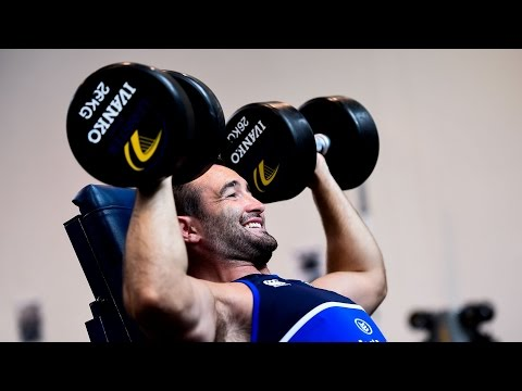 Inside the Leinster Rugby gym during pre-season training