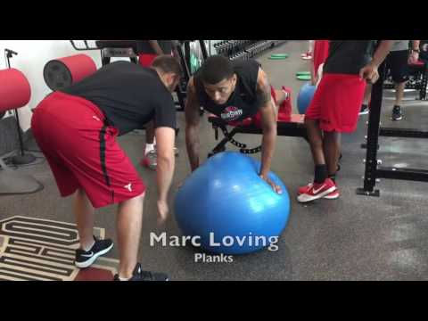 Ohio State basketball preseason weight lifting