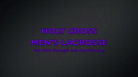 2016 Holy Cross Men's Lacrosse Fall Training