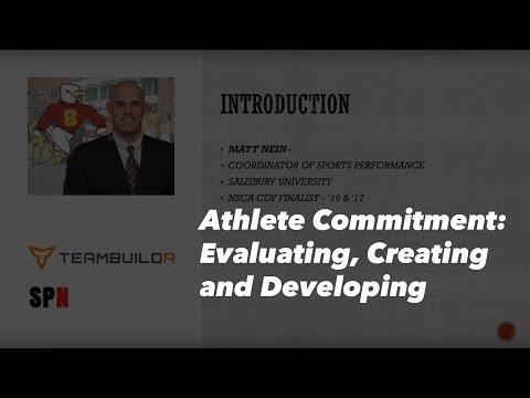Athlete Commitment - Evaluating, Creating and Developing
