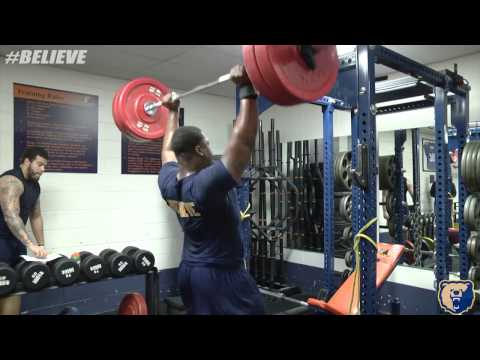 2017 Morgan State Football Weight Room Session