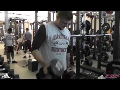 EKU Football: First Lift In New Weight Room