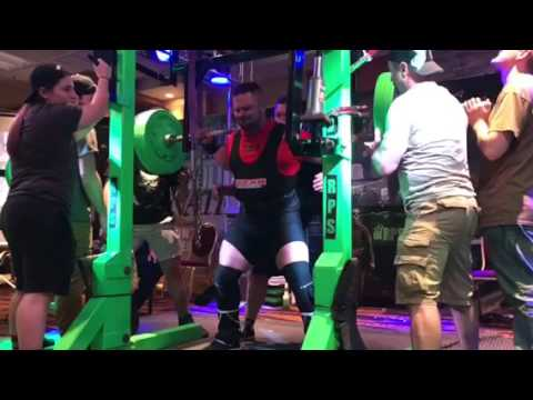 625 lbs competition squat with coach Gary Miller