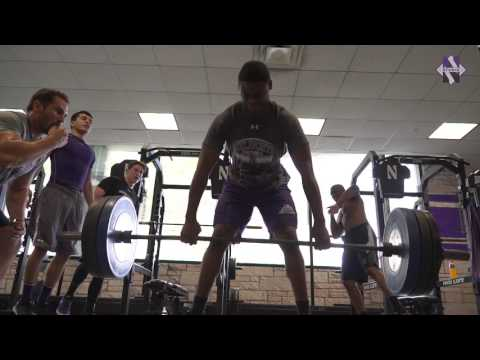 Northwestern Football - Weight Room Sights
